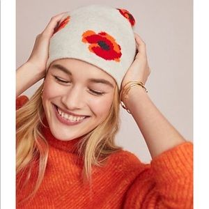 Anthropologie x Kitted in Cashmere beanie hat NWT